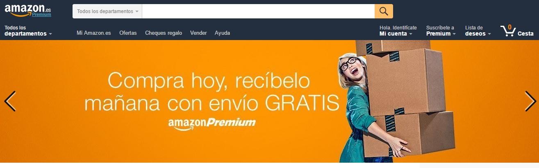 ver la propuesta única de valor de Amazon al hacer una página web