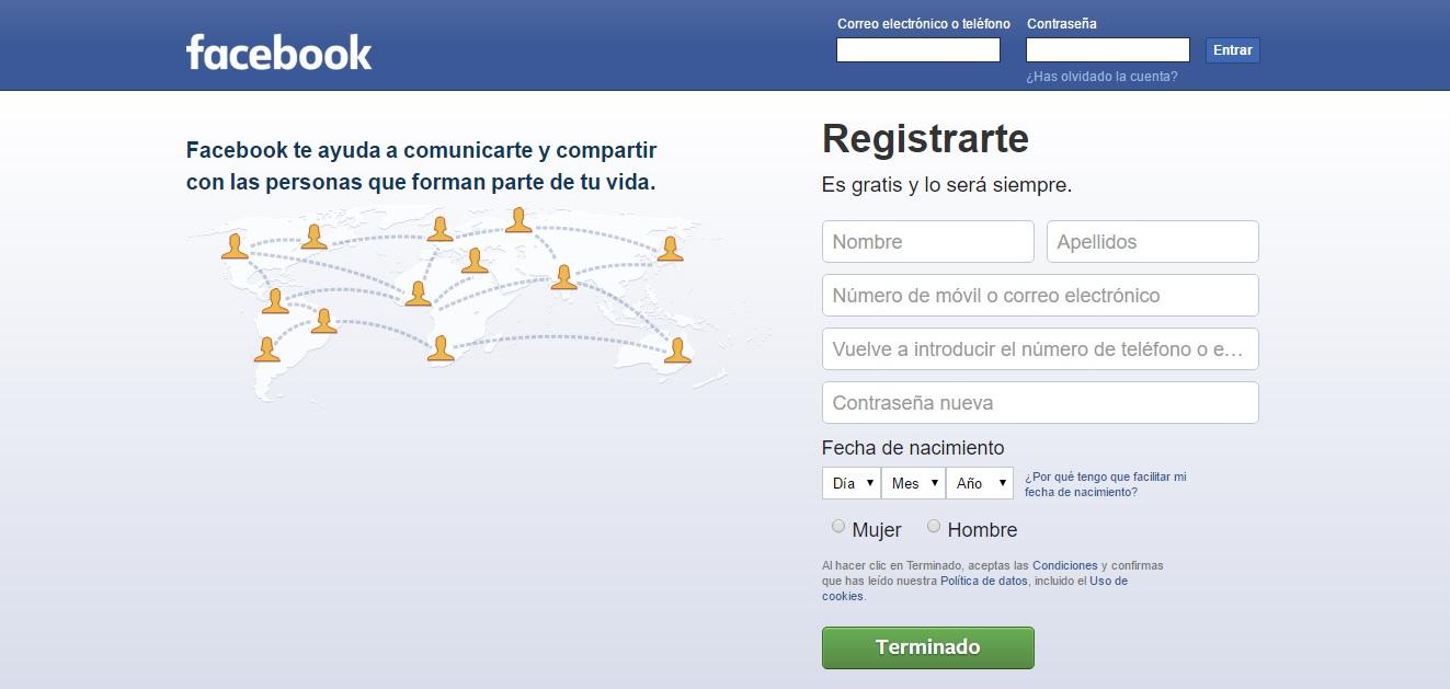 ver la propuesta única de valor de Facebook al hacer una página web