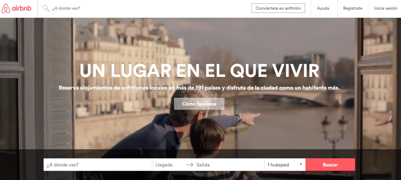 ver la propuesta única de valor de AirBNB al hacer una página web